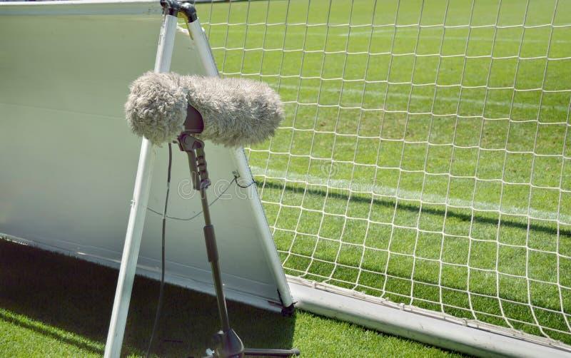 Меховой микрофон спорта стоковая фотография