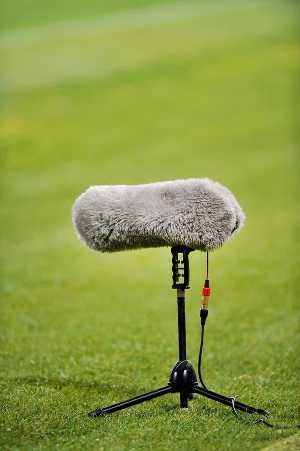 Меховой микрофон спорта стоковые изображения