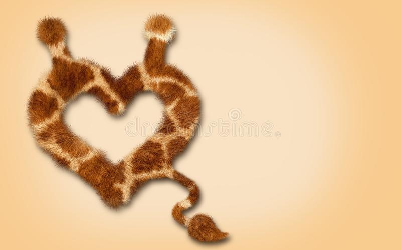 Мех сердца, конец вверх с кабелем Дизайн символа стоковые фотографии rf