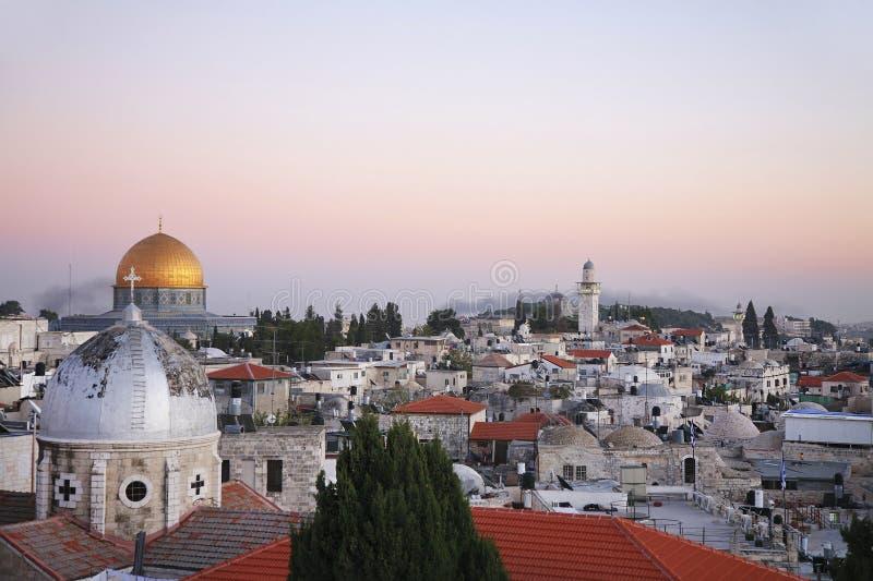 мечети Иерусалима города церков устанавливают старый висок крыш стоковая фотография rf