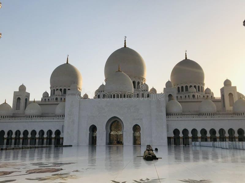 Мечеть Абу-Даби большая стоковая фотография