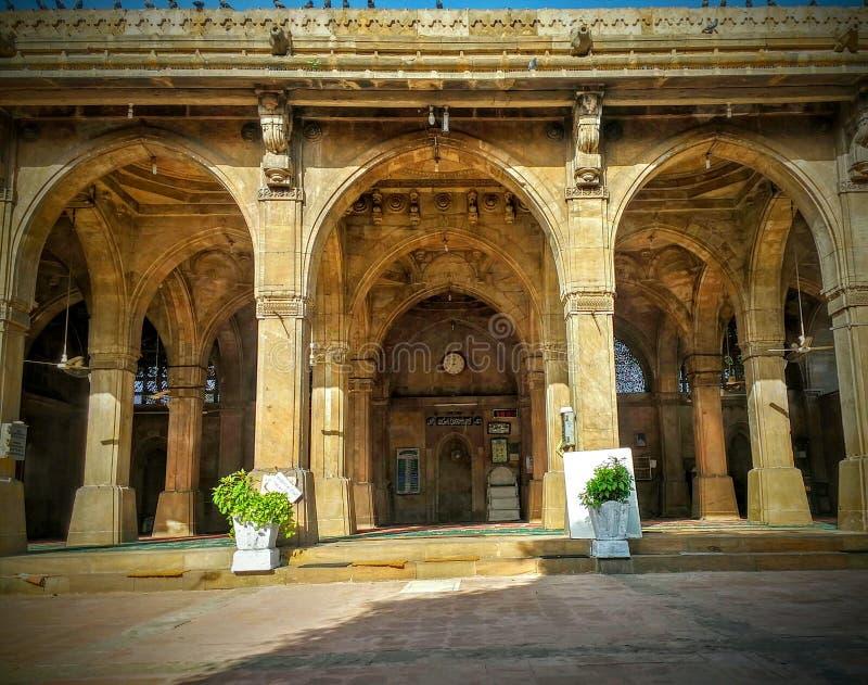 Мечеть Ахмадабад Гуджарат sayiad Sidi архитектуры стоковая фотография rf