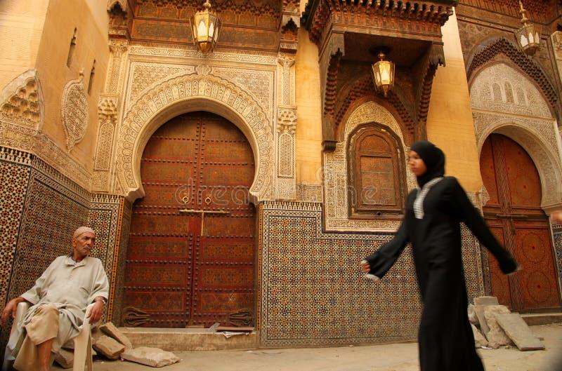 мечеть входа к стоковое фото