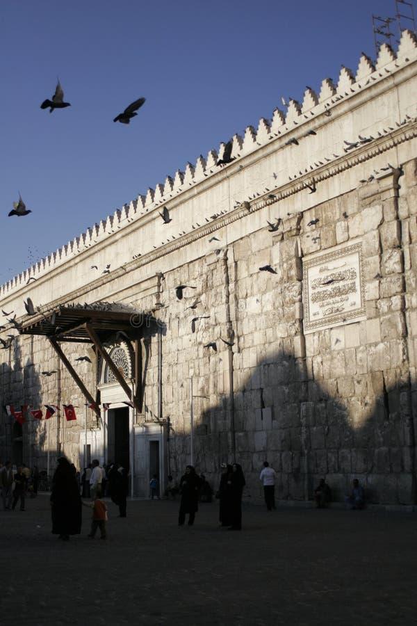 мечеть входа damascus к umayyad стоковые фото