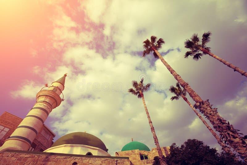 Мечеть в старом городе Akko в Израиле стоковое изображение