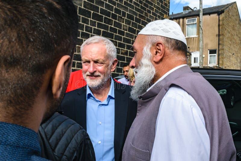 Мечеть Джереми Corbyn посещая стоковая фотография