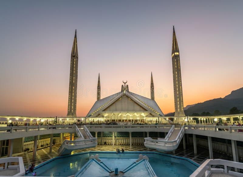 Мечеть Исламабад Пакистан Faisal стоковые изображения rf
