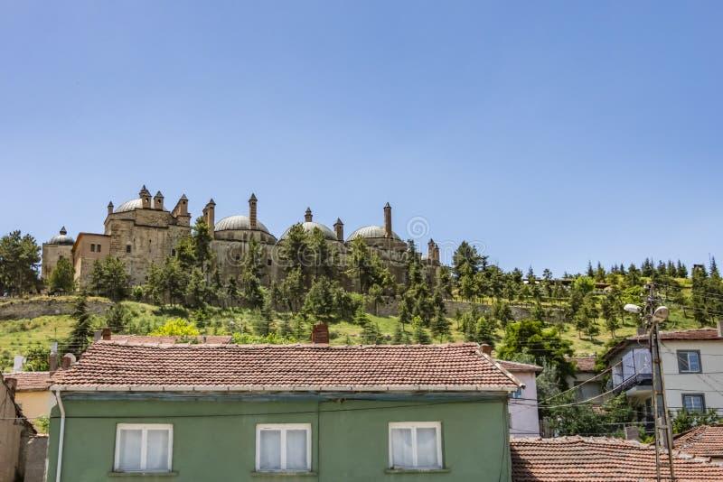 Мечеть и усыпальница Seyit Battal Gazi расположенные в районе Seyitgazi EskiÃ… Ÿehir Общий вид стоковая фотография