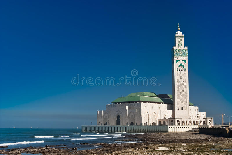 мечеть короля Марокко casablanca hassan ii стоковое изображение