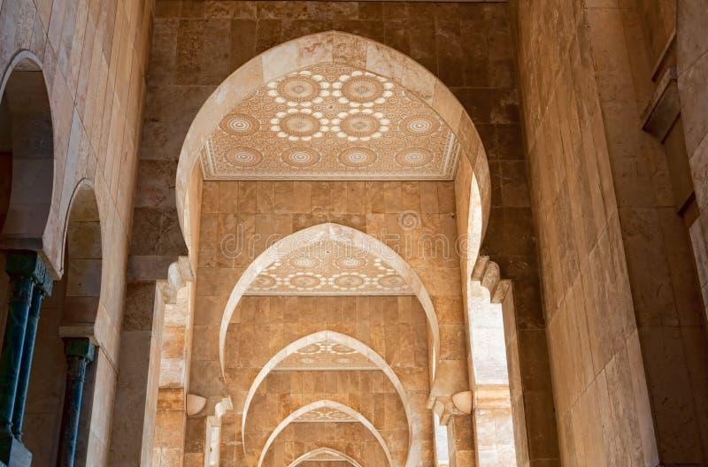 мечеть короля hassan ii стоковые фотографии rf