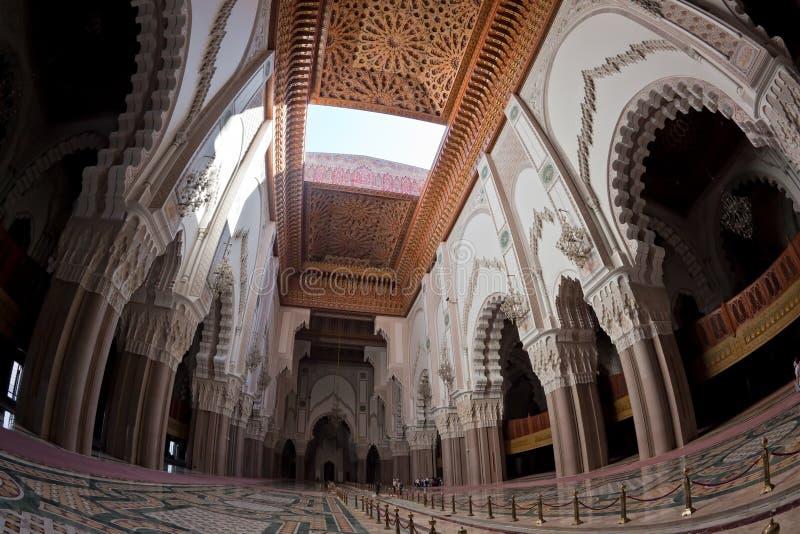 мечеть короля hassan ii стоковые изображения rf