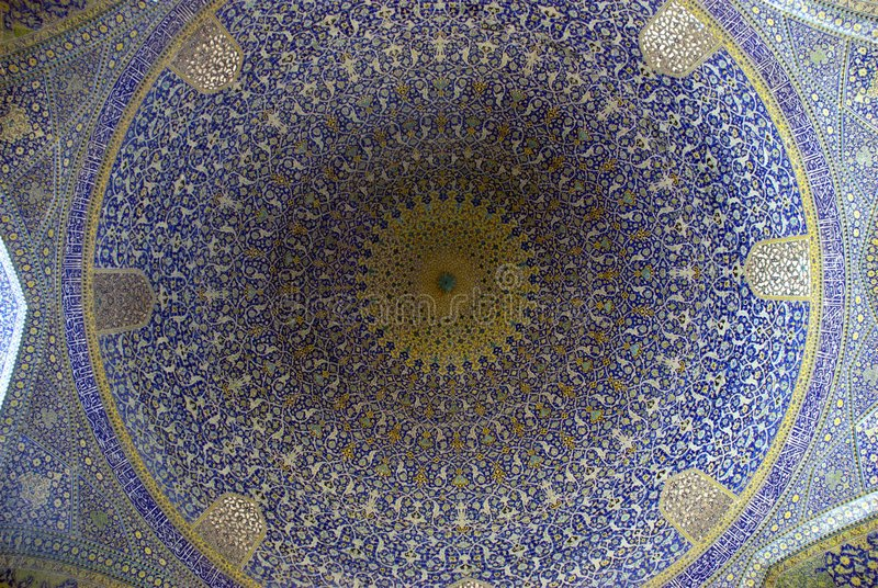 мечеть купола esfahan стоковое фото