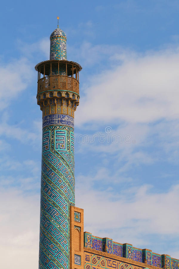 мечеть минарета Ирана isfahan имама стоковые изображения