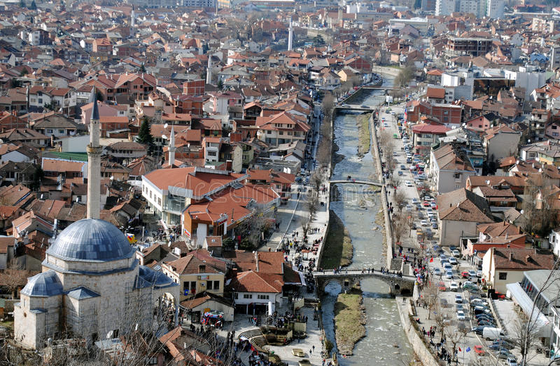 Мечеть паши Sinan и мосты, Prizren стоковое изображение