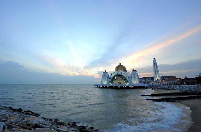 Мечеть проливов Melaka стоковое фото rf