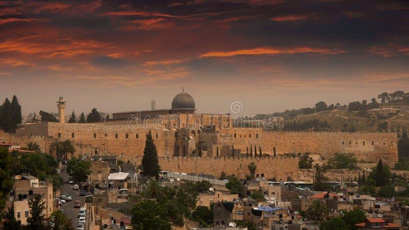 Мечеть al-Aqsa, Jerusalm, Израиль стоковая фотография rf