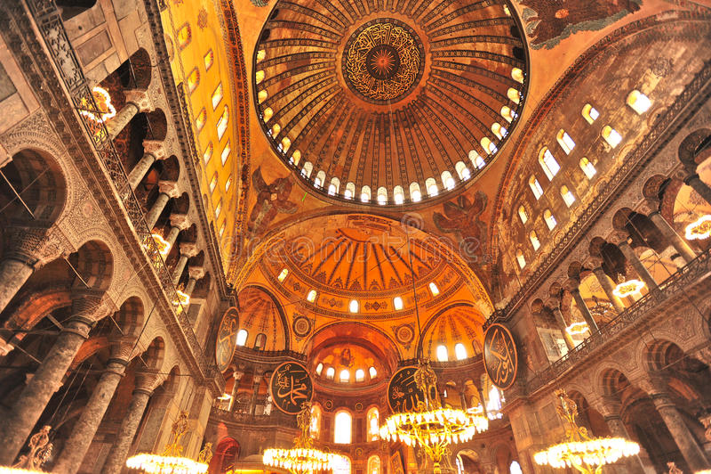 Мечеть Ayasohya (Hagia Sophia, Стамбул) стоковые изображения