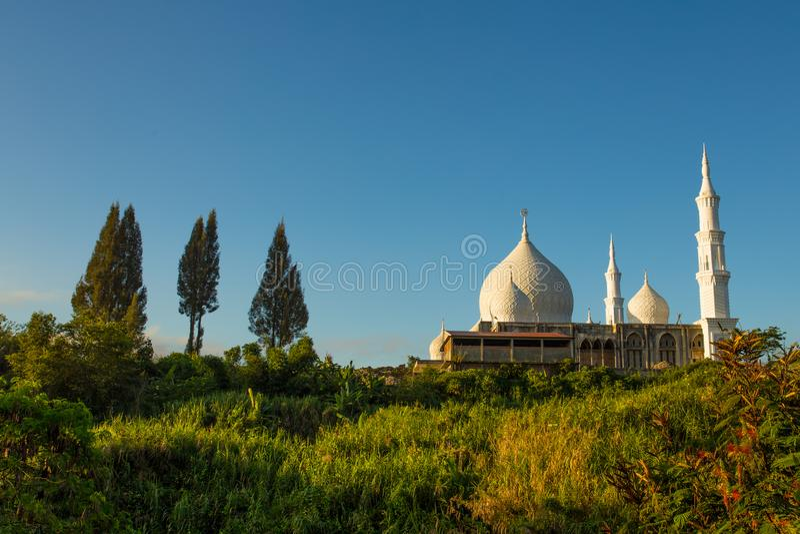 Мечеть Babussalam в Bener Meriah, провинции Ачеха, Индонезии стоковое изображение