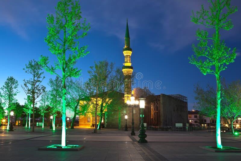 Мечеть Bayram хаджей на ноче ann индюк стоковая фотография