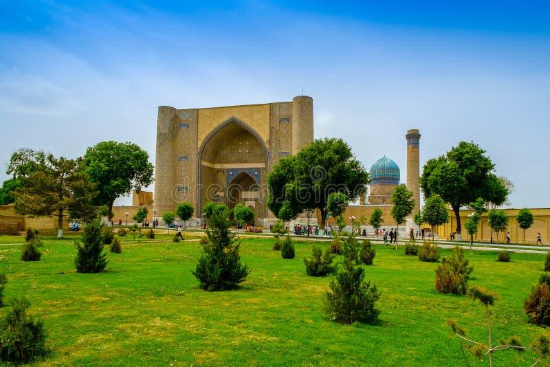 Мечеть Bibi-Khanym, Самарканд, Узбекистан стоковая фотография