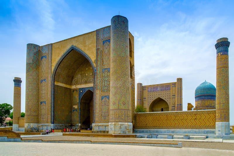 Мечеть Bibi-Khanym, Самарканд, Узбекистан стоковая фотография rf
