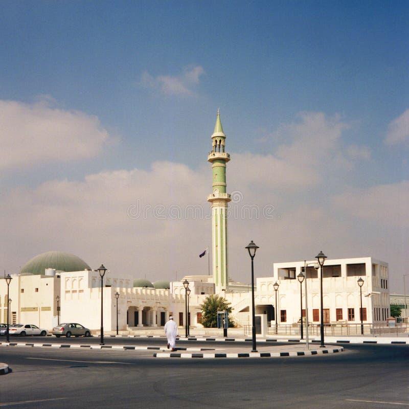 мечеть doha грандиозная стоковое изображение rf
