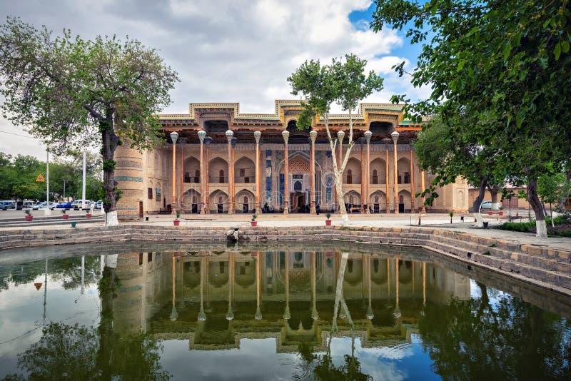 Мечеть Haouz Bolo в Бухаре, Узбекистане стоковые фото