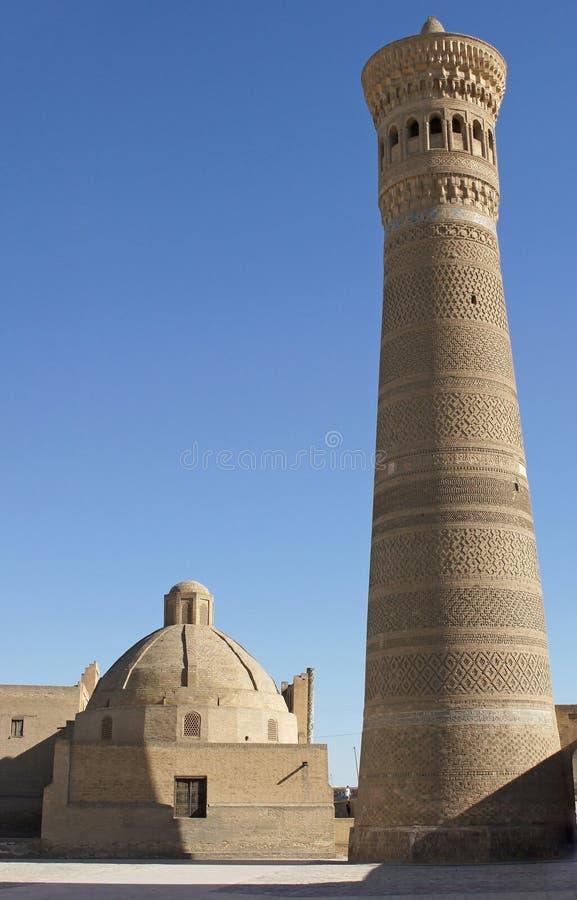 Мечеть Kalon, Бухара, Узбекистан стоковая фотография