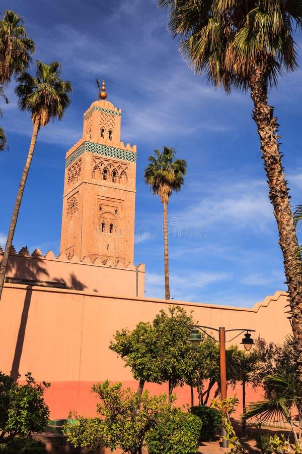 Мечеть Koutoubia в marrakech стоковое изображение rf