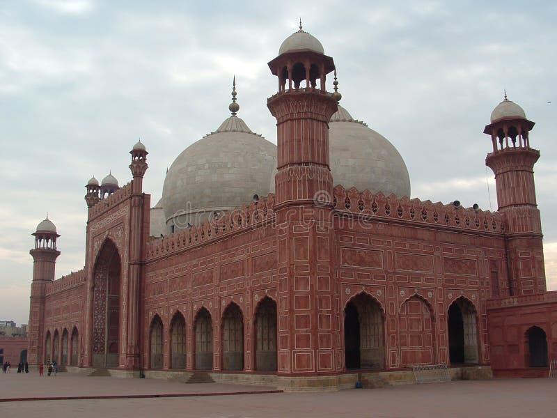 мечеть lahore badshahi стоковые изображения rf