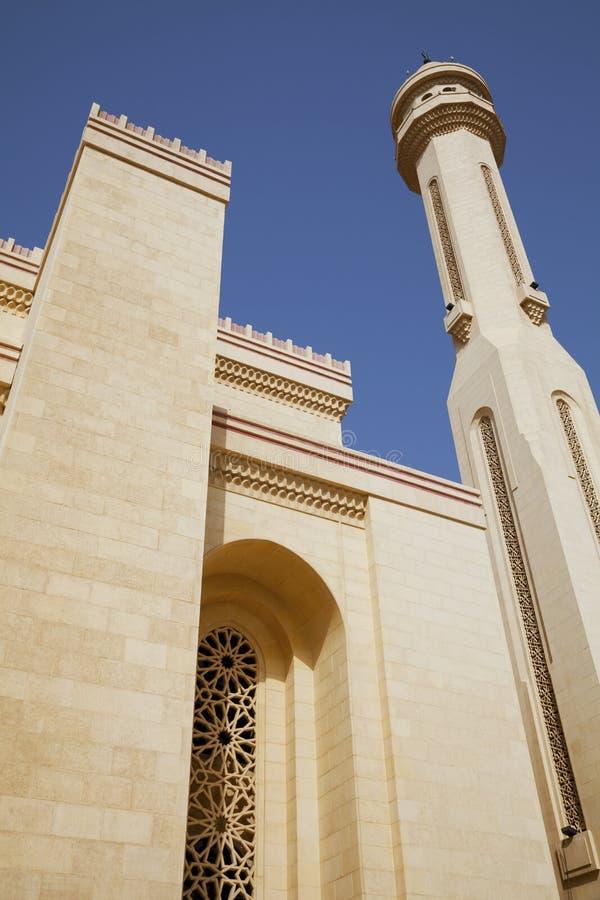 мечеть manama fateh Бахрейна al грандиозная стоковое фото