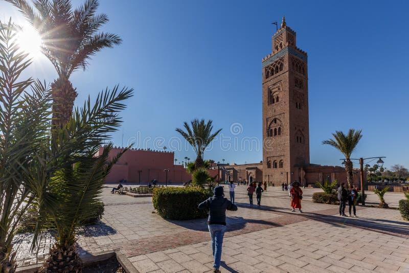 мечеть marrakech Марокко koutoubia стоковые фотографии rf