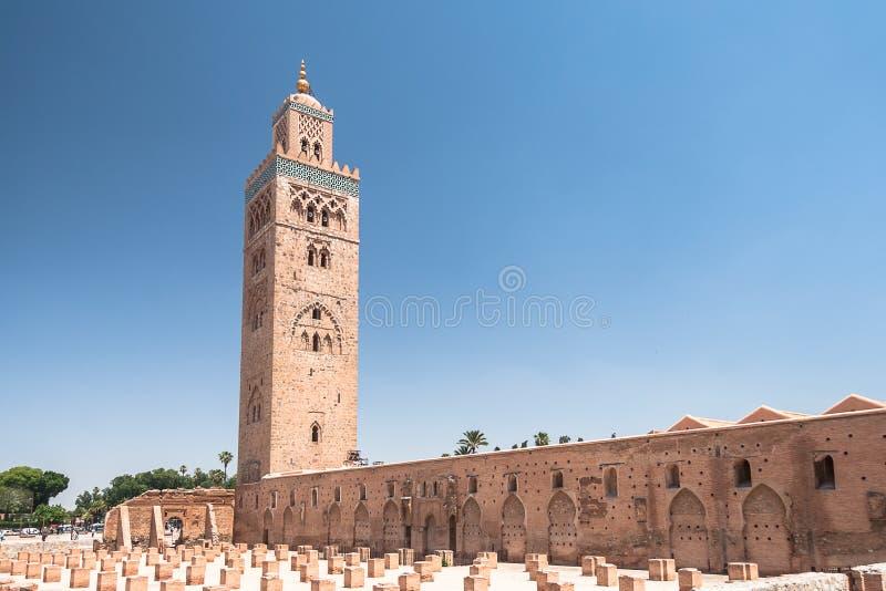 мечеть marrakesh koutoubia стоковые изображения rf