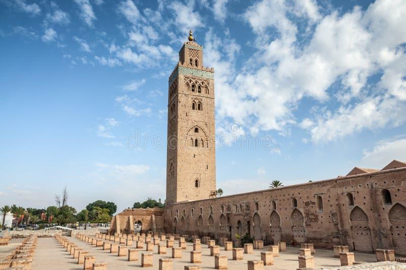 мечеть marrakesh koutoubia стоковые фото