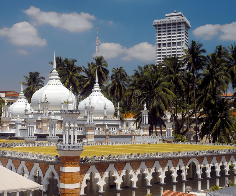 мечеть masjid Куала Лумпур jamek стоковая фотография