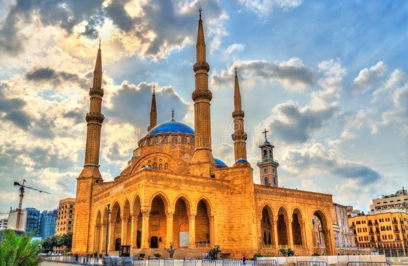 Мечеть Mohammad Al-Amin в Бейруте, Ливане стоковые изображения rf