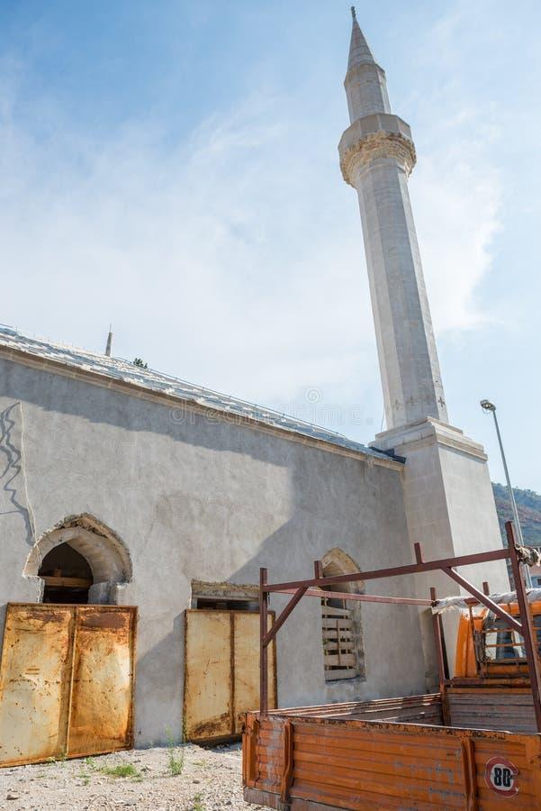 мечеть mostar стоковые изображения