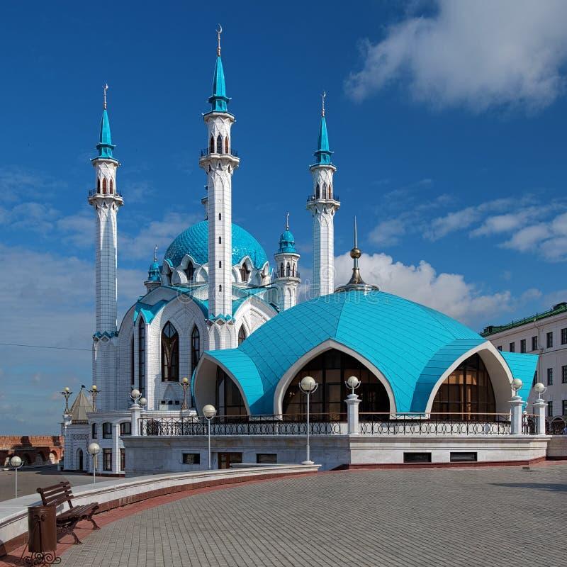 Мечеть Qolsharif в Казань Кремль стоковые изображения rf