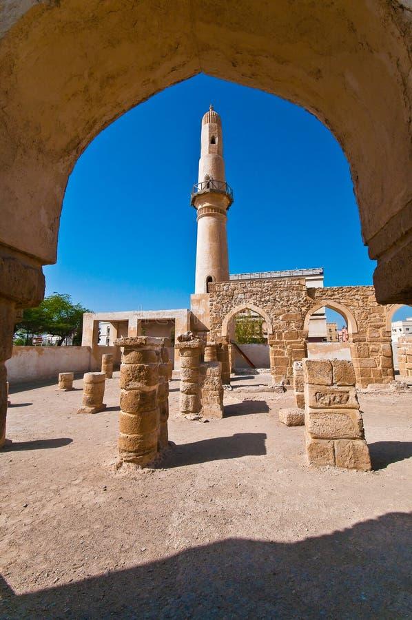 мечеть s минарета khamees al стоковая фотография rf