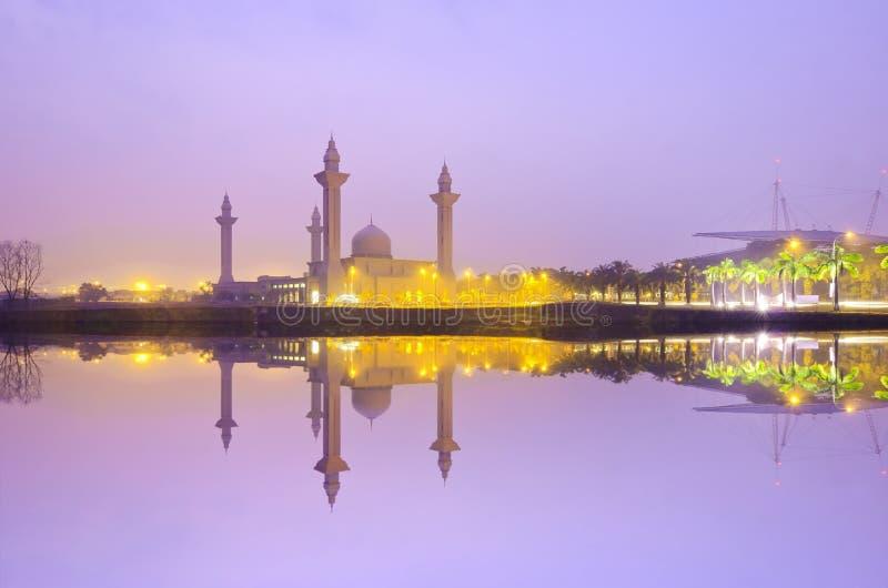 Мечеть Tengku Ampuan Jemaah, Bukit Jelutong, мечеть Малайзии стоковое фото