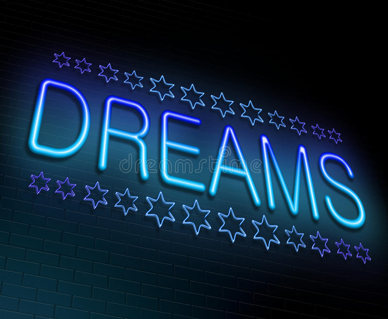 Мечтает принципиальная схема иллюстрация штока