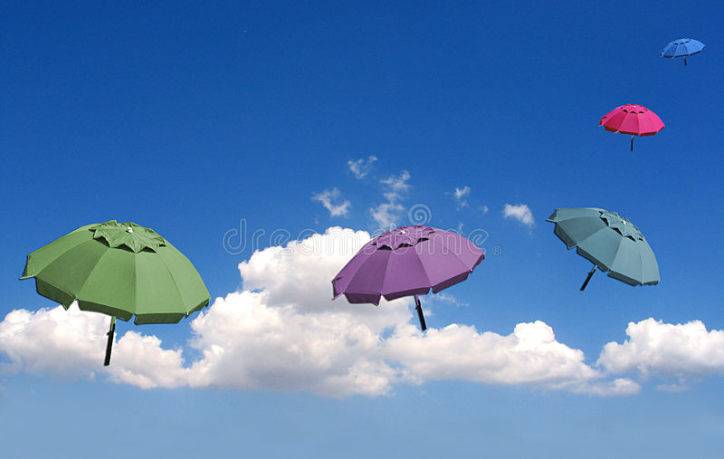 мечтательные зонтики Стоковое Изображение RF
