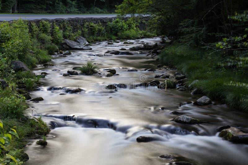 Мечтательный поток в больших закоптелых горах стоковое фото rf