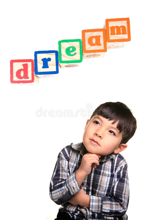 мечтать дня мальчика стоковое изображение