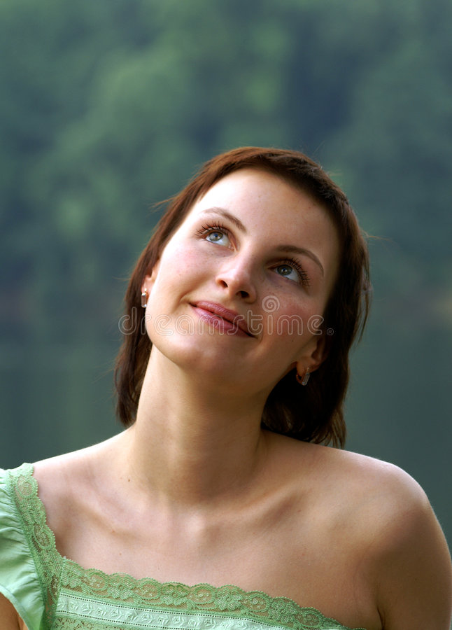 мечтать женщина стоковое изображение