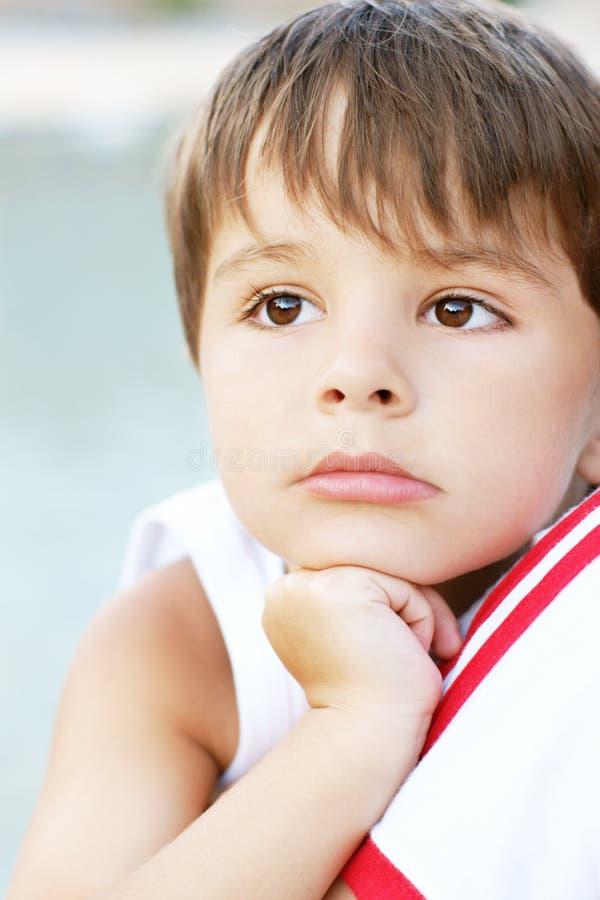мечтать мальчика стоковое изображение rf