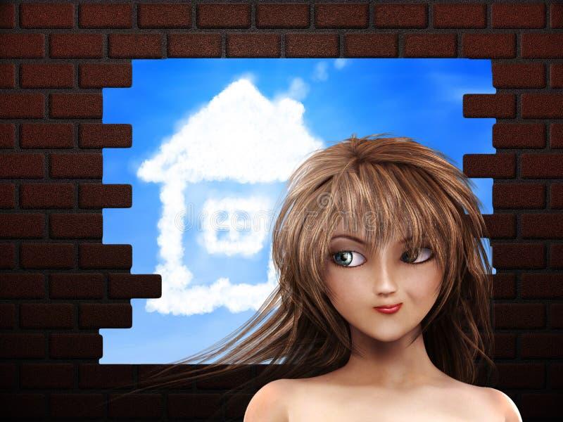 Мечтать нового дома иллюстрация вектора