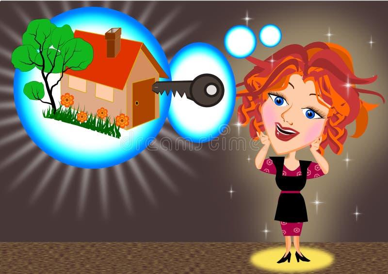 Мечтать нового дома бесплатная иллюстрация