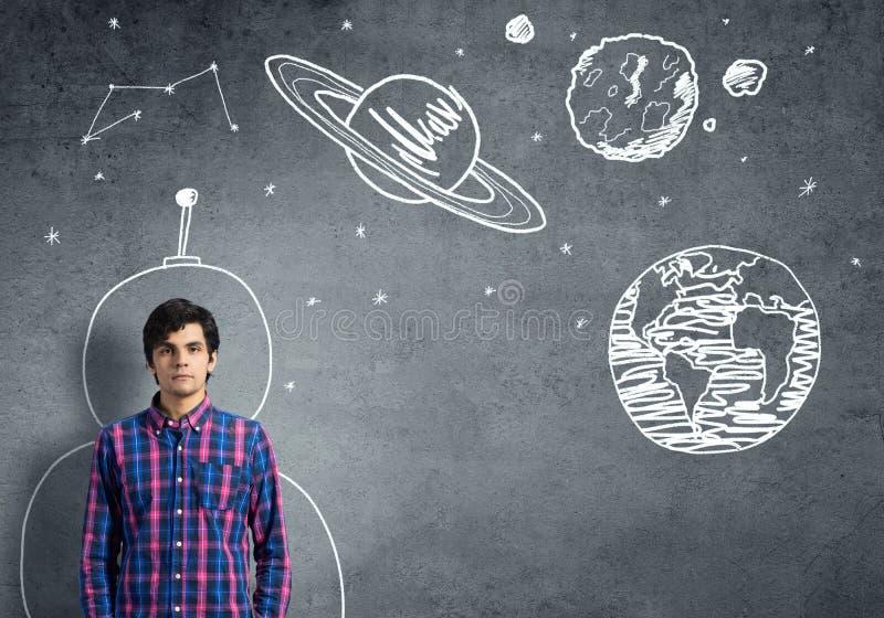 Мечтать для того чтобы исследовать космос стоковое изображение
