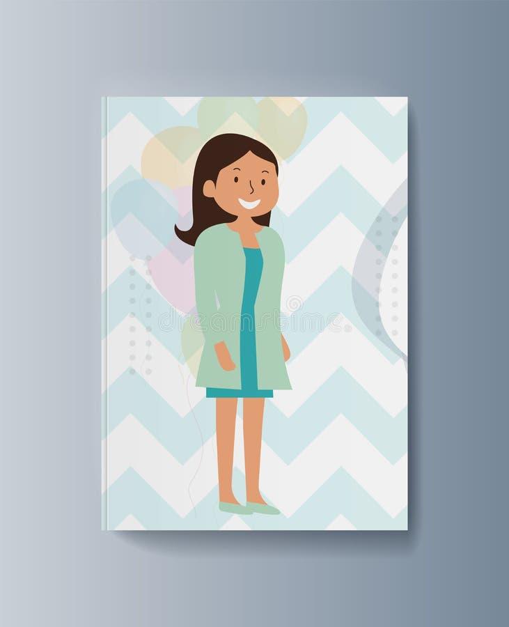 Мечта любимца подарка маленькой девочки приходит истинный иллюстрация вектора